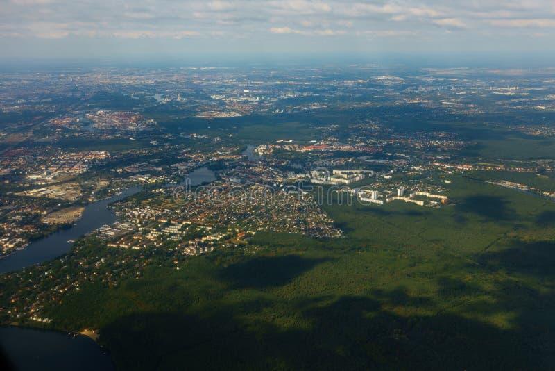 Widok z lotu ptaka Berlin w Niemcy obrazy royalty free