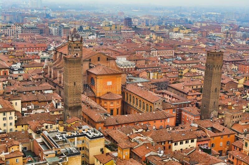 Widok z lotu ptaka Bologna obraz royalty free