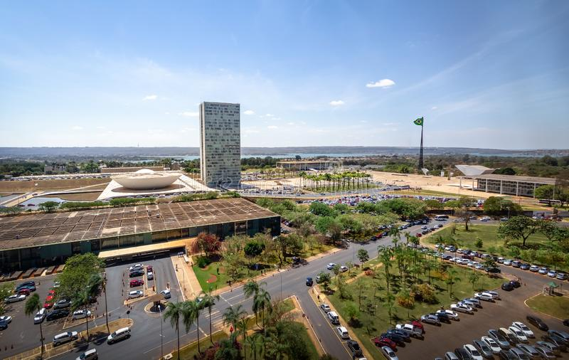 Widok z lotu ptaka Brasilia, Brasilia -, Distrito Federacyjny, Brazylia fotografia royalty free
