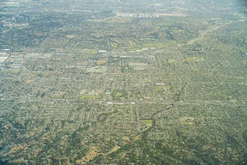 Widok z lotu ptaka Brea, Fullerton zdjęcia royalty free