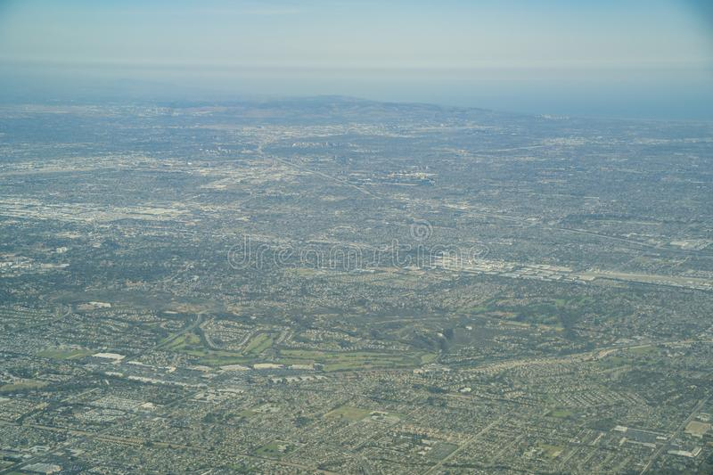 Widok z lotu ptaka Brea, Fullerton obraz royalty free