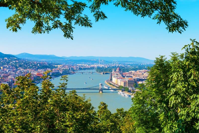 Widok z lotu ptaka Budapest, Węgry fotografia stock