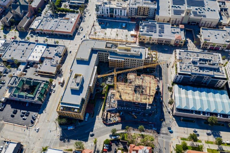 Widok z lotu ptaka budowa przy Pasadena obrazy royalty free