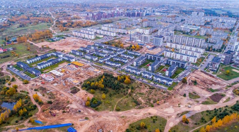 Widok z lotu ptaka budowa teren, Lithuania zdjęcie royalty free