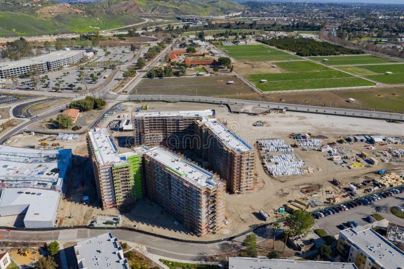 Widok z lotu ptaka budowa w Cal Pomona Poli- kampusie fotografia royalty free