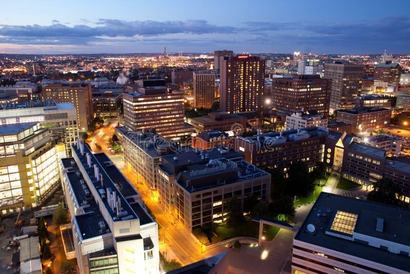Widok z lotu ptaka Cambridge i Boston fotografia royalty free