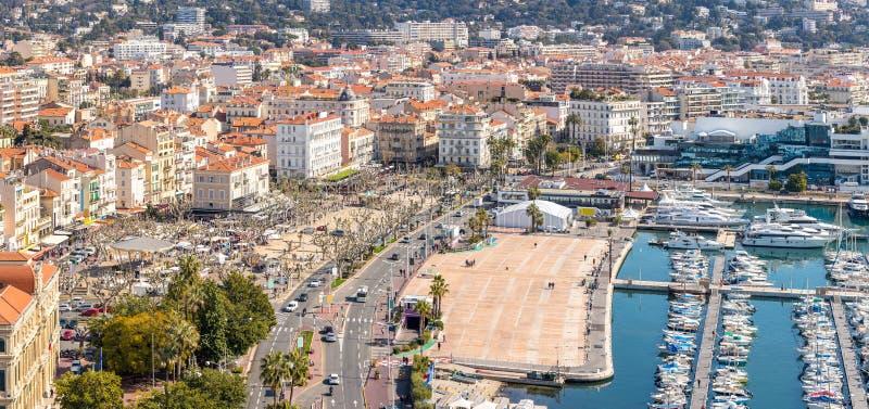 Widok z lotu ptaka Cannes Francja zdjęcie stock
