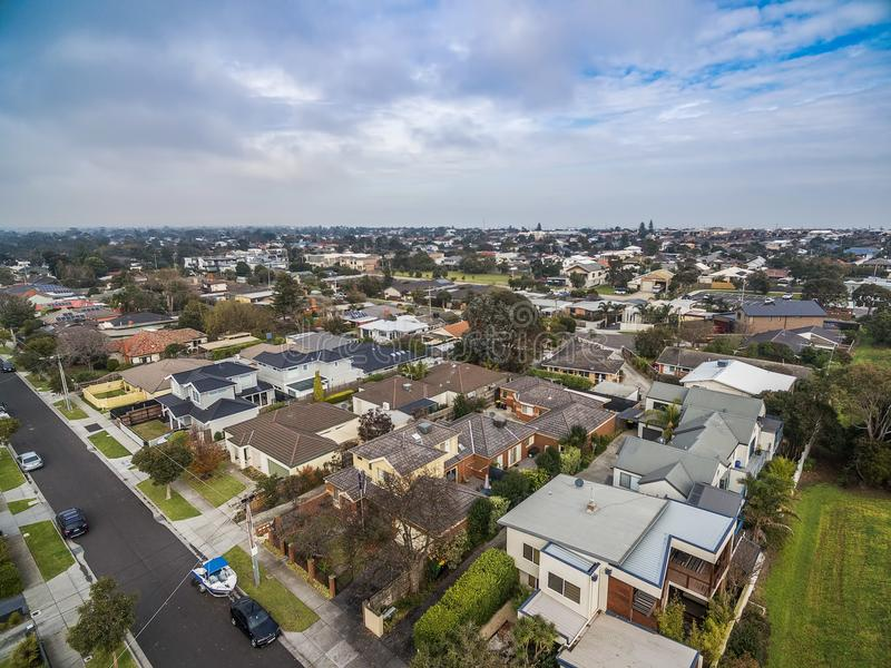 Widok z lotu ptaka Carrum - przedmieście Melbourne obraz royalty free