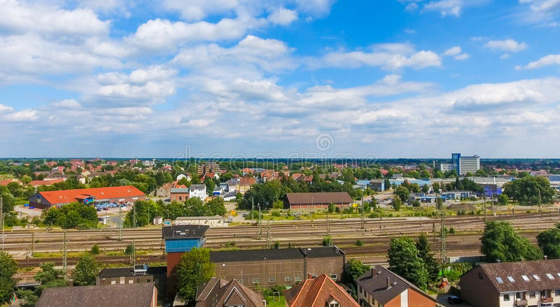 Widok z lotu ptaka Celle, Niemcy zdjęcie stock