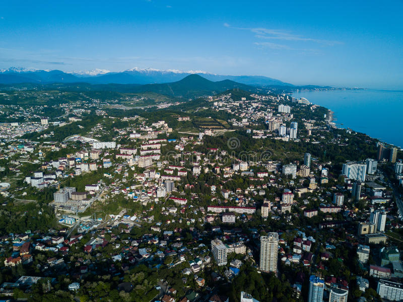 Widok z lotu ptaka centrum miasta zdjęcie royalty free