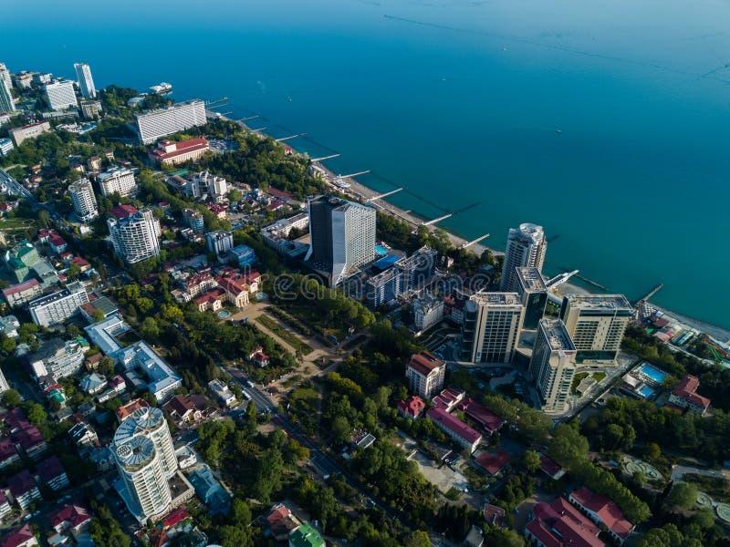 Widok z lotu ptaka centrum miasta obraz stock