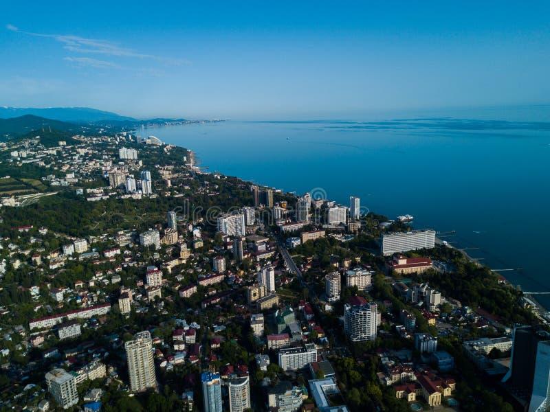 Widok z lotu ptaka centrum miasta zdjęcia stock