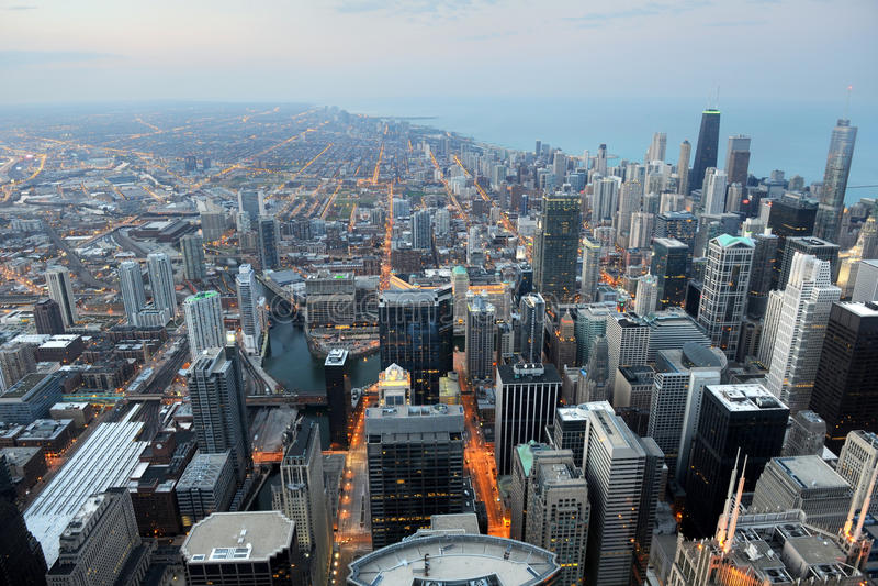 Download Widok Z Lotu Ptaka Chicago, Illinois Zdjęcie Royalty Free - Obraz: 25563155