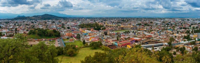 Widok z lotu ptaka Cholula w Puebla, Meksyk zdjęcie stock