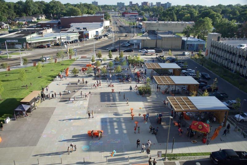 Widok Z Lotu Ptaka Crosstown Concourse świętowanie, Memphis, Tennessee obraz stock