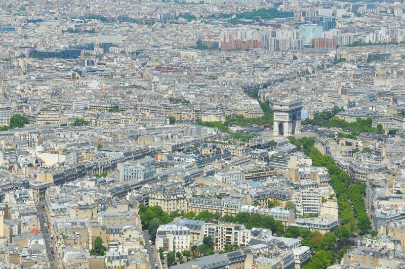 Widok z lotu ptaka czempiony w Paryż, Francja zdjęcie stock