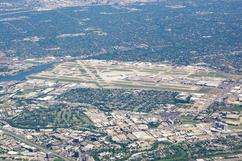 Widok z lotu ptaka Dallas miłości pola lotnisko (DAL) fotografia royalty free