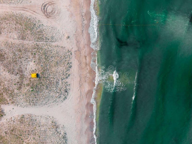 Widok z lotu ptaka denny wybrzeże i namiot crimea zdjęcia royalty free