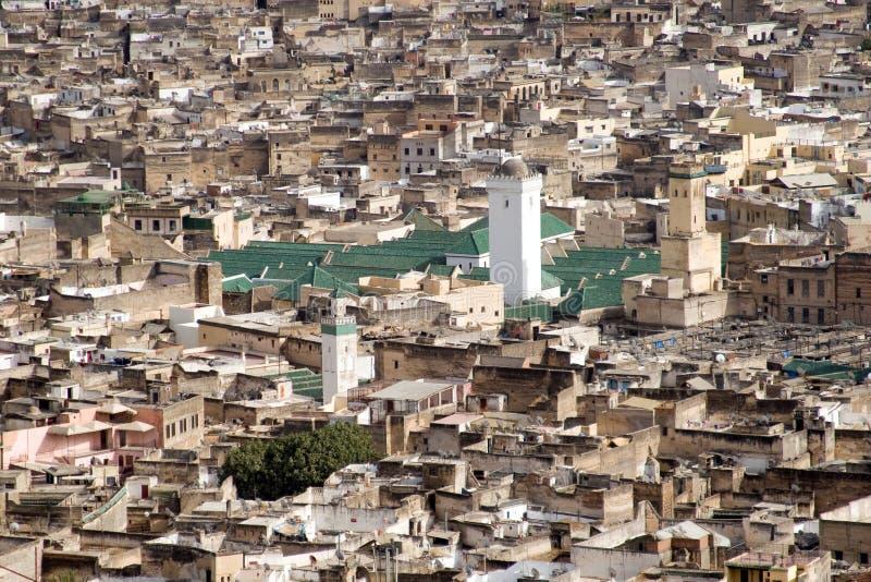 Widok Z Lotu Ptaka Duży Meczet w Fes, Maroko obrazy royalty free