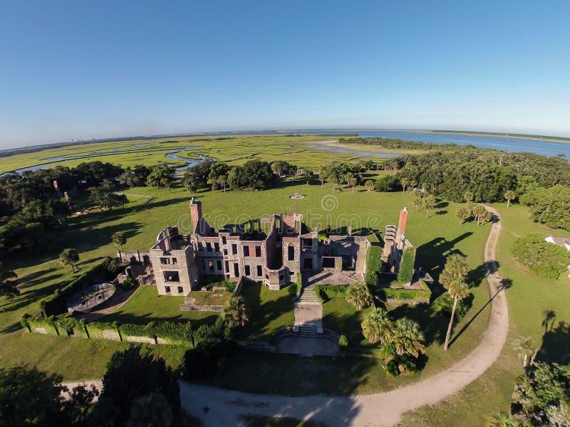 Widok Z Lotu Ptaka Dungeness i podwórko zdjęcia royalty free