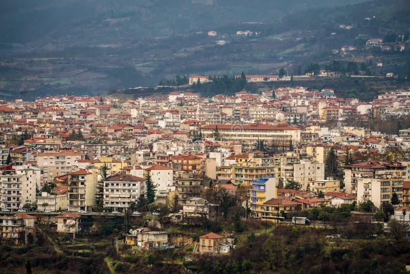 Widok Z Lotu Ptaka Edessa miasto, Grecja, Europa zdjęcie stock