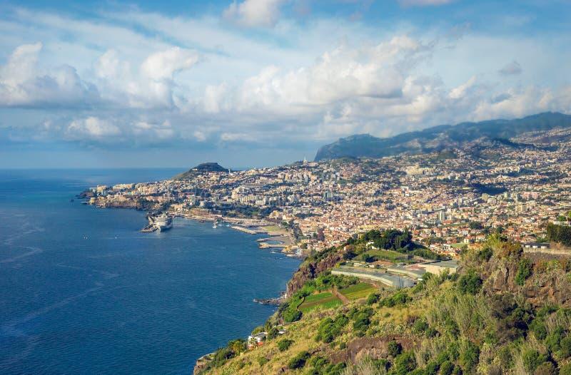 Widok z lotu ptaka Funchal zdjęcia royalty free