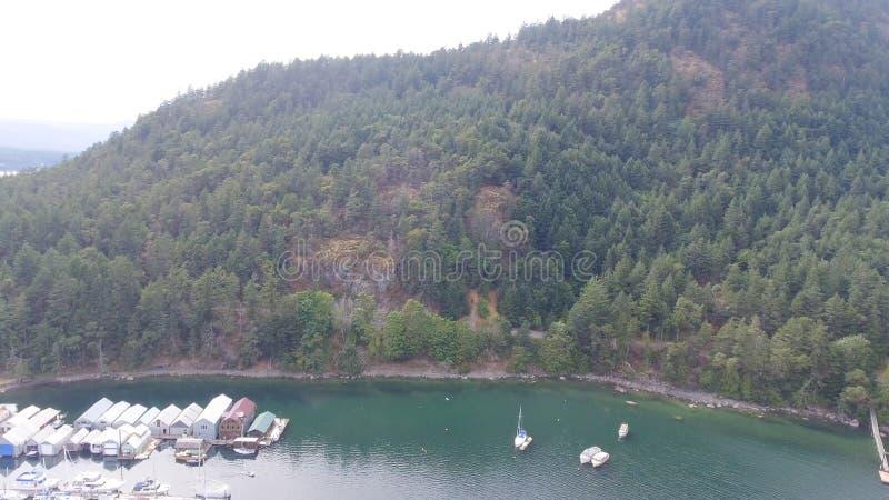 Widok z lotu ptaka genuy zatoka w Vancouver wyspie, Kanada obraz stock