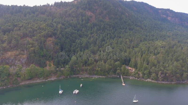 Widok z lotu ptaka genuy zatoka, Wiktoria wyspa - kolumbiowie brytyjska fotografia royalty free