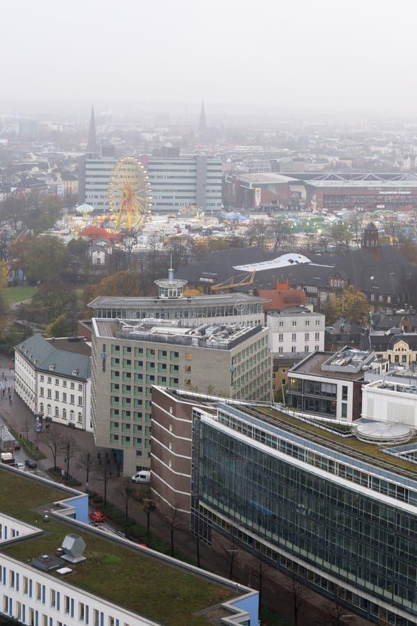 Widok z lotu ptaka Hamburski miasto Niemcy zdjęcia stock