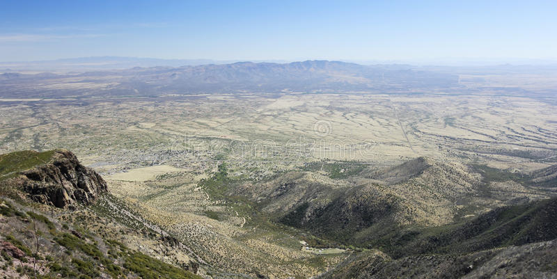 Widok z lotu ptaka Hereford, Arizona, od Miller jaru obrazy stock