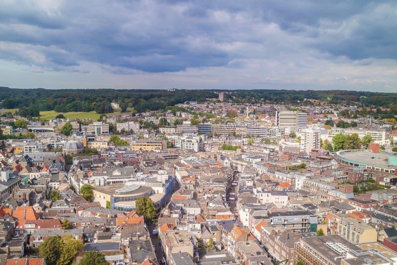 Widok z lotu ptaka Holenderski miasto Arnhem w prowinci Gelderla zdjęcie royalty free