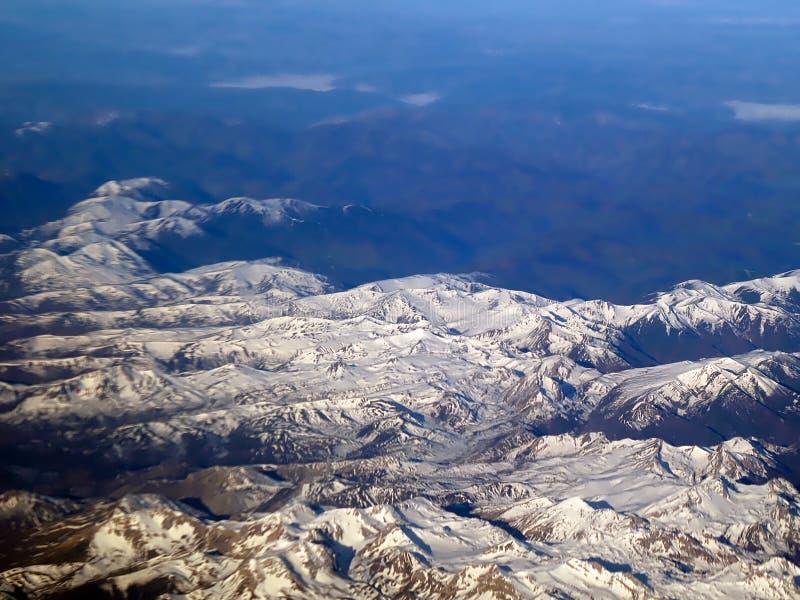 Widok z lotu ptaka iberian góry w Spain fotografia stock