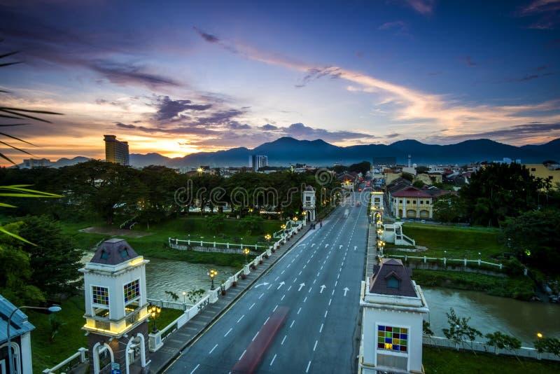 widok z lotu ptaka Ipoh, Perak, Malezja zdjęcie stock