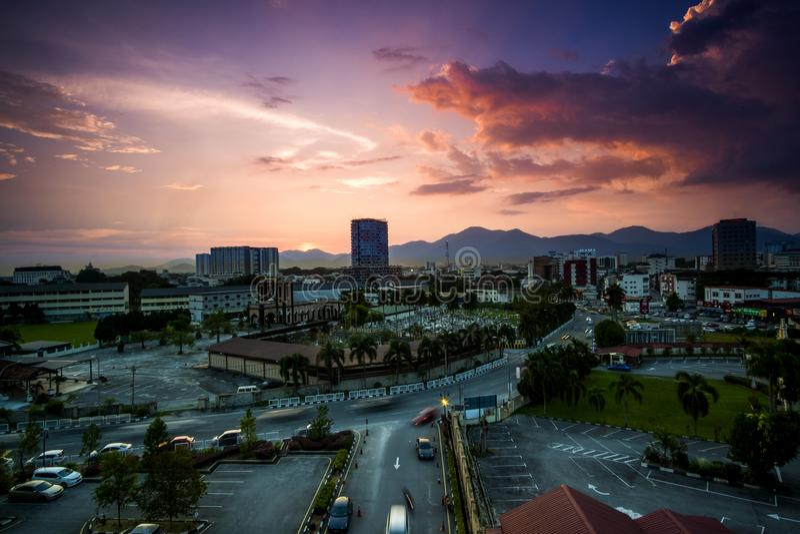 widok z lotu ptaka Ipoh, Perak, Malezja fotografia royalty free
