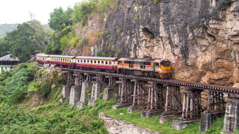 Widok z lotu ptaka jama Krasae Kanchanaburi Tajlandia Azja obrazy stock