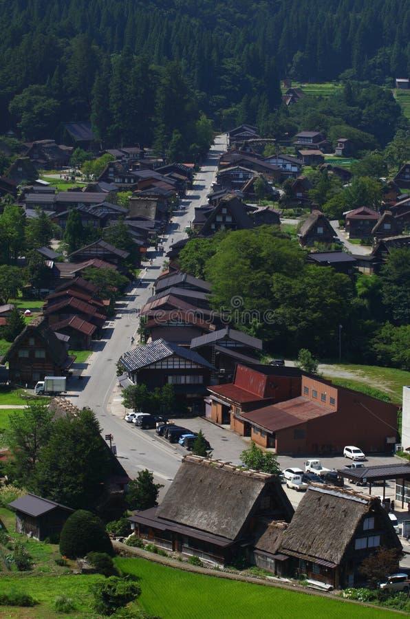 Widok z lotu ptaka Japoński miasteczko obrazy stock