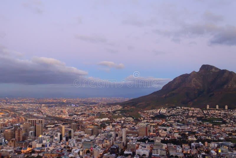 Widok z lotu ptaka Kapsztad od Sygnałowego wzgórza, Południowa Afryka obrazy stock