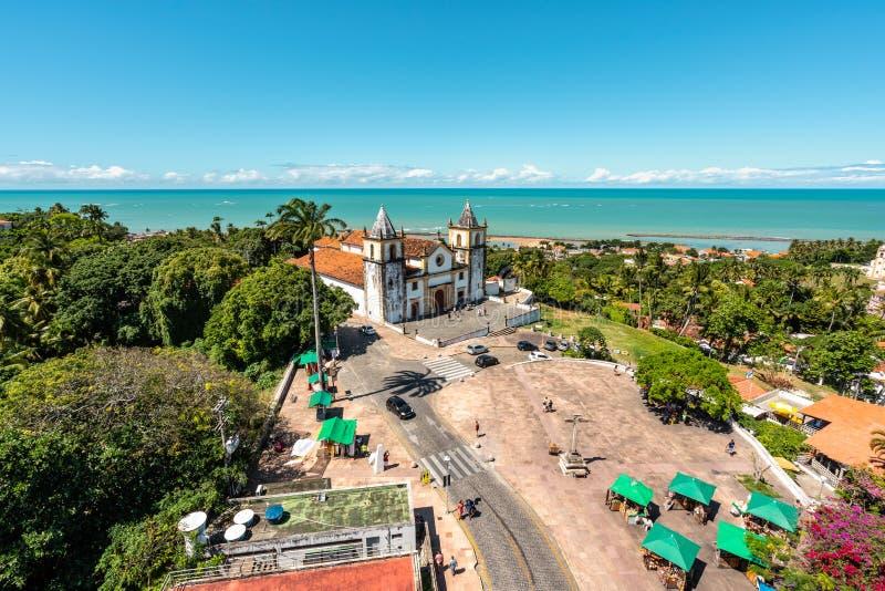 Widok z lotu ptaka Katedralny altu da Se, Olinda, Pernambuco, Brazylia obrazy stock
