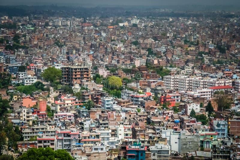 Widok z lotu ptaka Kathmandu obraz royalty free