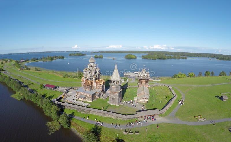 Widok z lotu ptaka Kizhi wyspa obrazy royalty free
