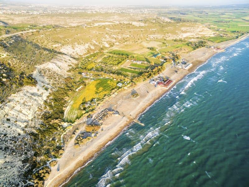 Widok z lotu ptaka Kourio, Limassol, Cypr obrazy royalty free
