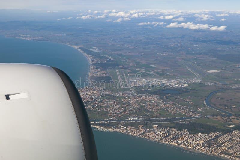 Widok z lotu ptaka leonardo lotniskowy Rome Italy davinci fotografia royalty free