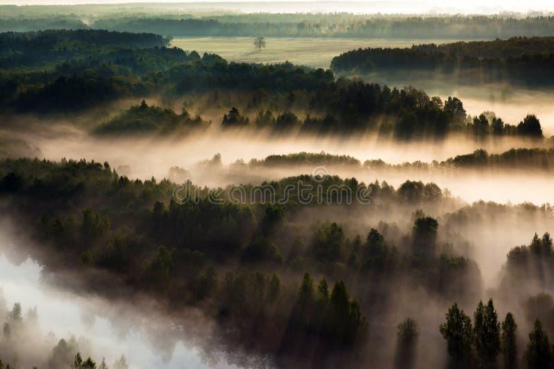 Widok z lotu ptaka Litewska wieś obraz royalty free