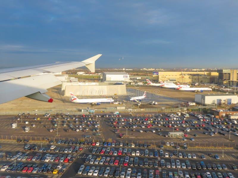 Widok z lotu ptaka Londyn - lądujący obraz stock