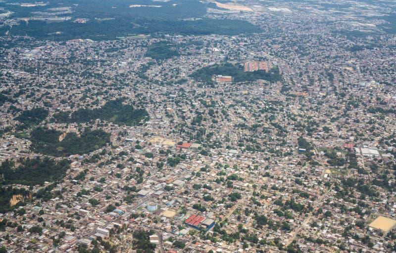 Widok z lotu ptaka Manaus miasto, Brazil zdjęcie royalty free