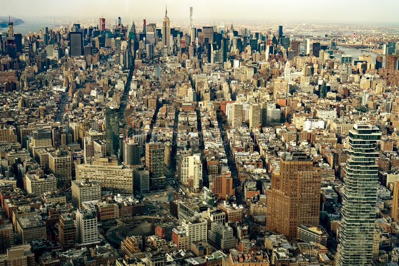 Widok z lotu ptaka Manhattan Miasto Nowy Jork fotografia royalty free
