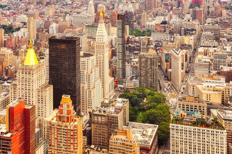 Widok z lotu ptaka Manhattan, Miasto Nowy Jork, usa zdjęcia royalty free