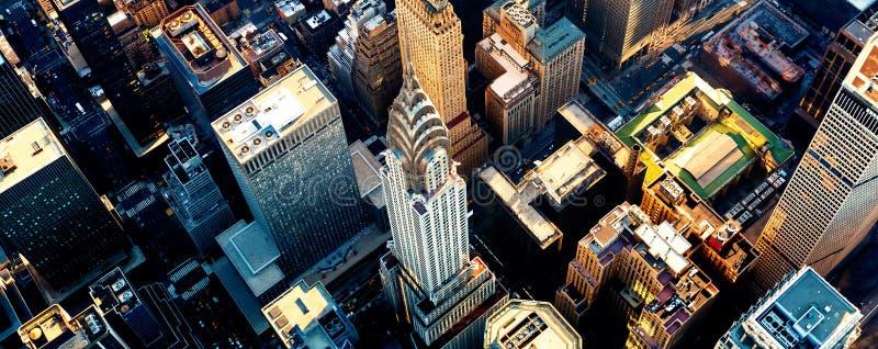 Widok z lotu ptaka Manhattan New York z Midtown zdjęcie royalty free