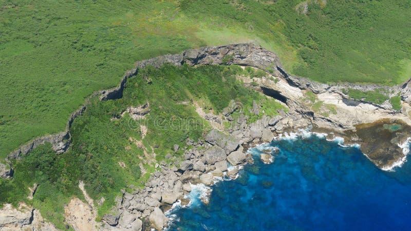 Widok z lotu ptaka Marpi, Saipan nabrzeżny obrazy stock