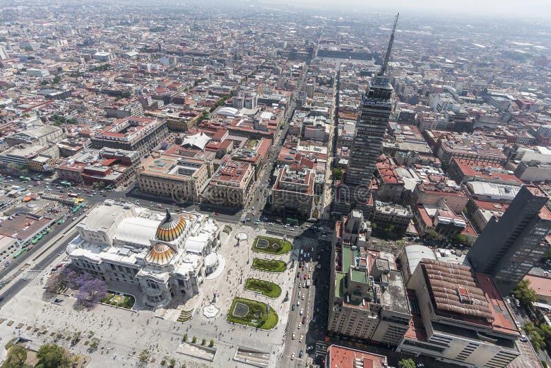 Widok z lotu ptaka Mexico - centrum miasta obrazy royalty free